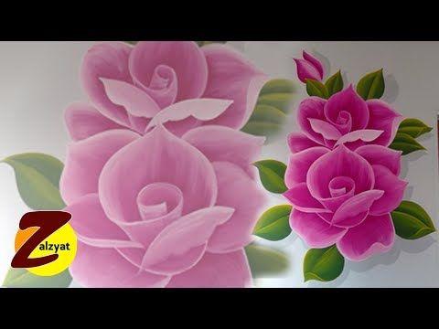 طريقة رسم وردتين بلون احمر وابيض Youtube Rose Painting Flowers