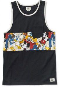 faf2b95d1b1ed1 Vans Shoes Off The Wall Men s Disney Donald Duck Mickey Goofy Tank Top Shirt