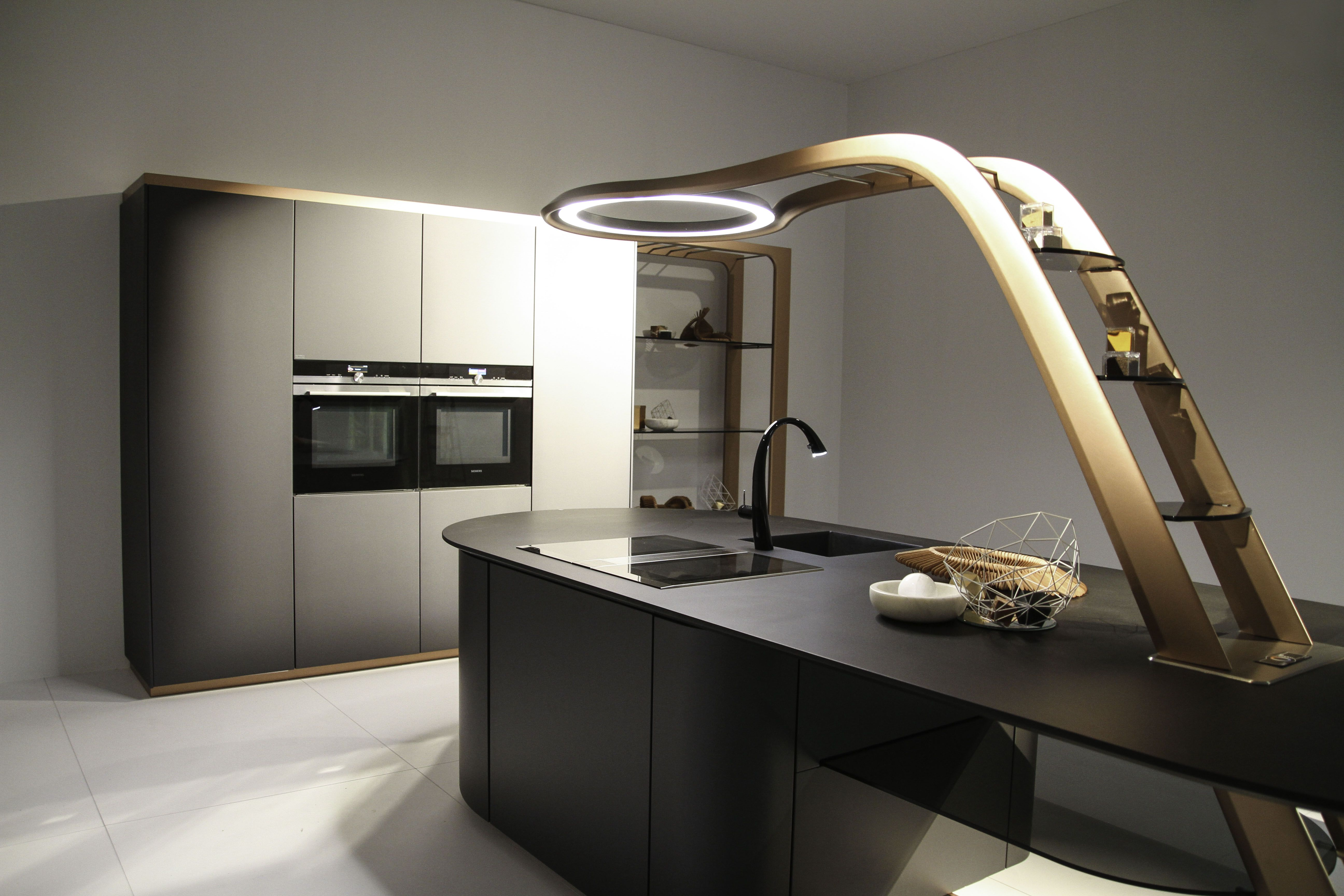 Snaidero Concept Aria The Structure Counter Top Is Made Of Carbon Fiber So It Is Light And Ve Luxury Kitchen Island Kitchen Design Open Modern Kitchen Design