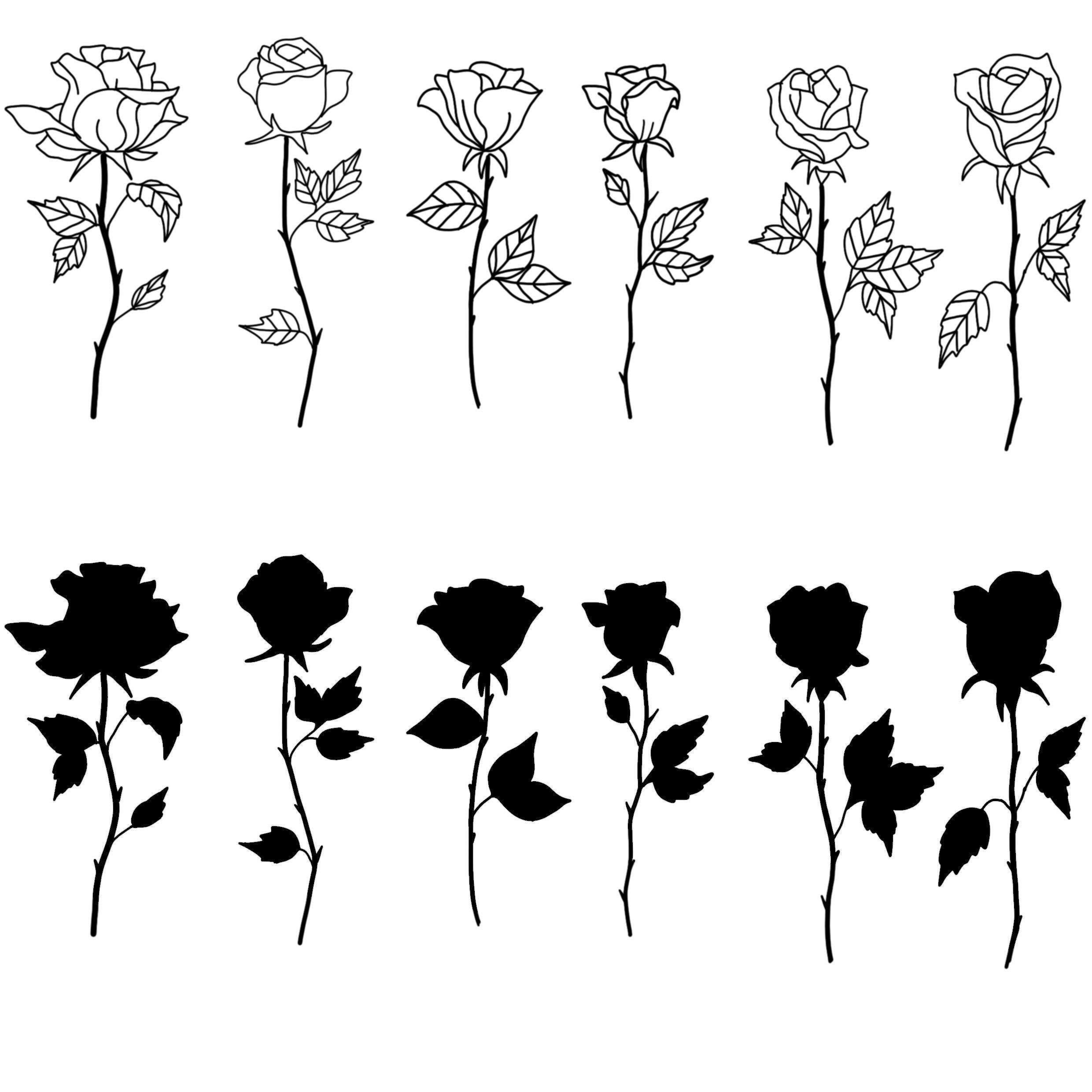 мини картинки для тату роза фотографий боевых