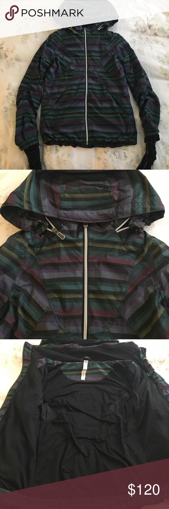 e713ec28401 Lululemon run hustle jacket Very good used condition! Super cute Lululemon  hustle jacket in multi