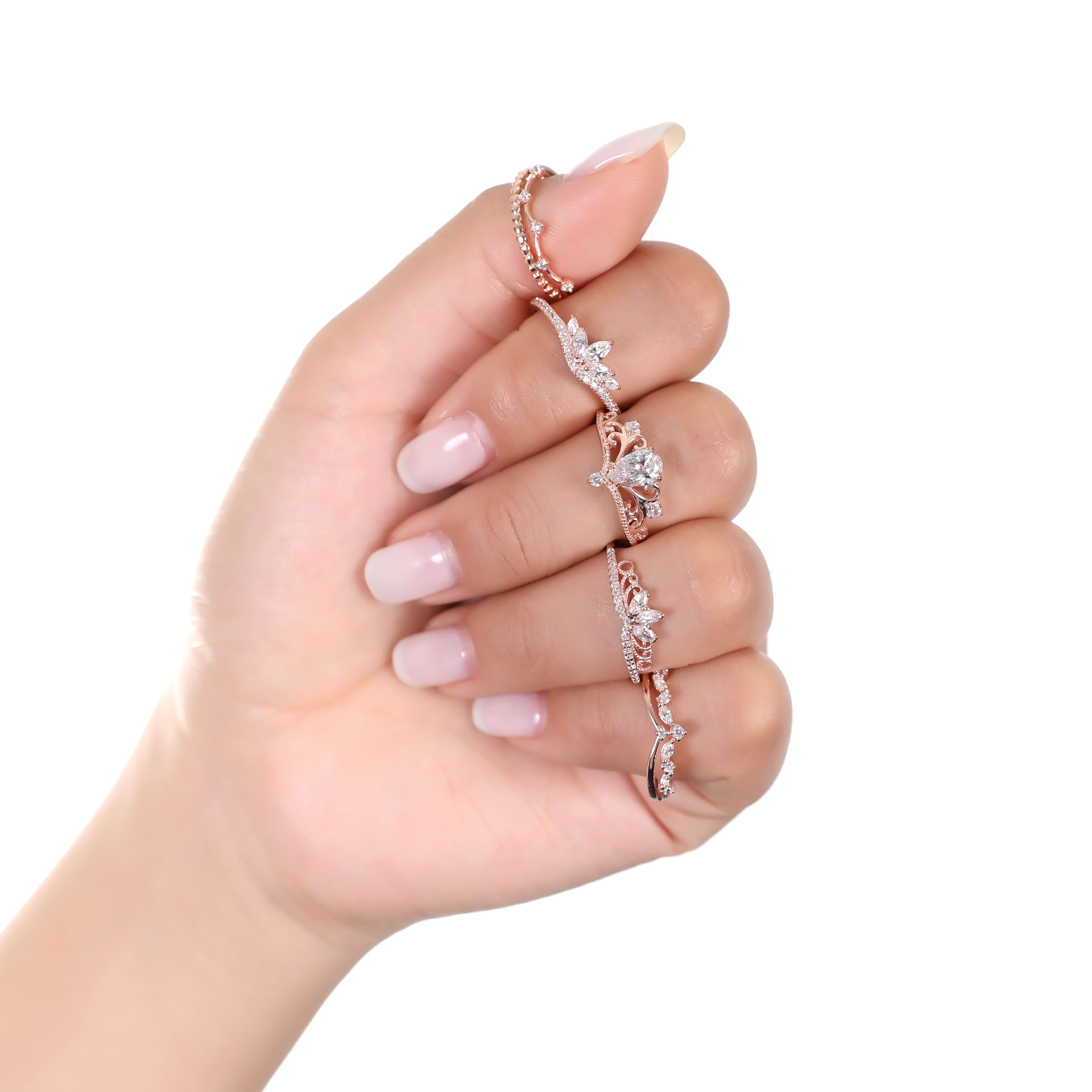 Let\'s all take a moment to admire these beautifully dainty rose gold ...