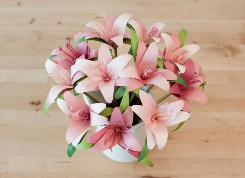 3d Floral Home Decor Cricut Cartridge Vase Of Flowers Make It Now In