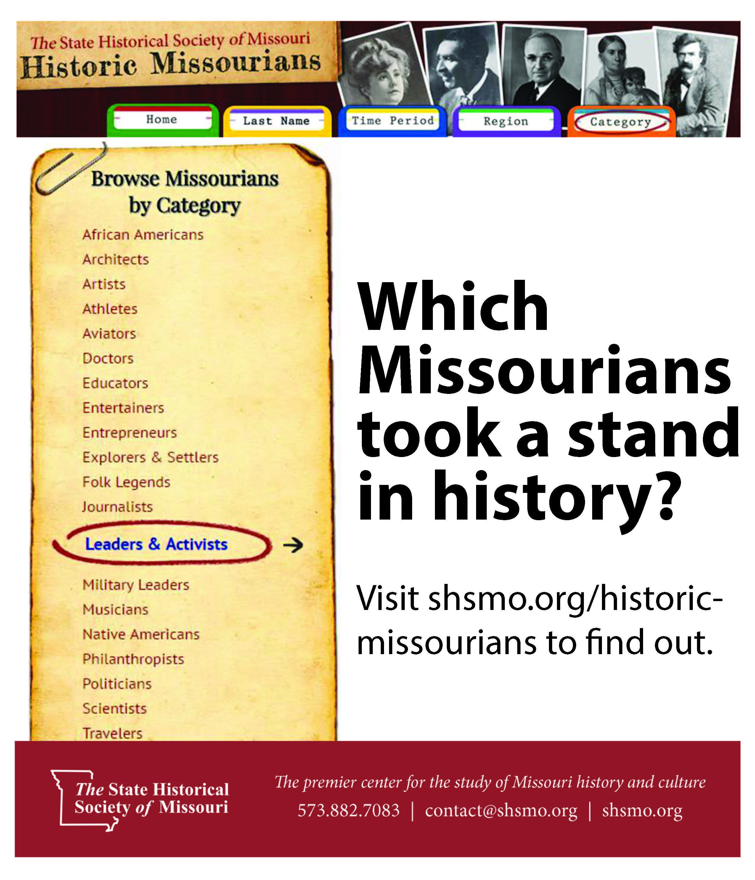 Here Is A Resource For Missouri Topics For Nhd Historical Society National History Day Society