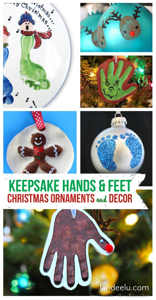 Diy Christmas Ornaments Using Kids Hands And Feet Diy Christmas Ornaments Christmas Ornaments To Make Kids Christmas
