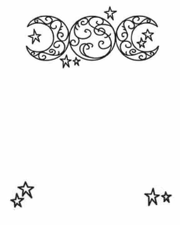 Swirly Triple Moon And Stars Bos Moons Amp Suns Mama