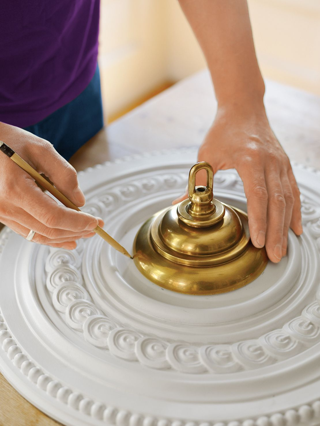 How To Install A Ceiling Medallion With Images Ceiling Medallions Ceiling Medallions Diy Ceiling Medallion Chandelier