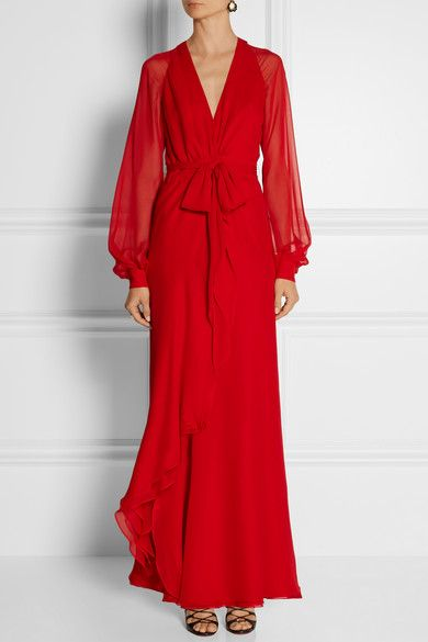 Haneyred coco silk chiffon gown | Glamorous Gowns | Pinterest | Red ...