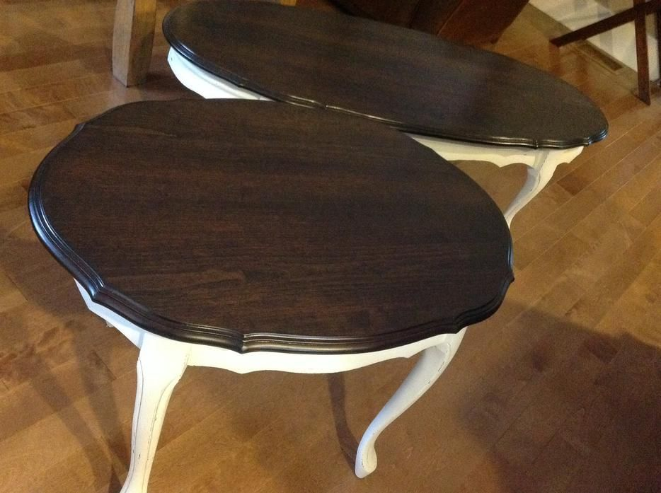 Painted Modern Victorian Coffee Table | Refurbished Queen Anne Style Coffee  U0026 End Table Sooke, Victoria
