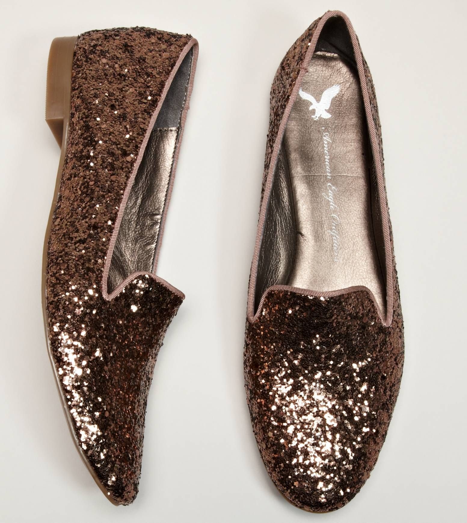 Sparkle + loafers = meant to be!   For just $19.99 @ American Eagle Outfitters