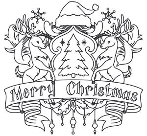 Merry Christmas Crest | Urban Threads: Unique and Awesome ...