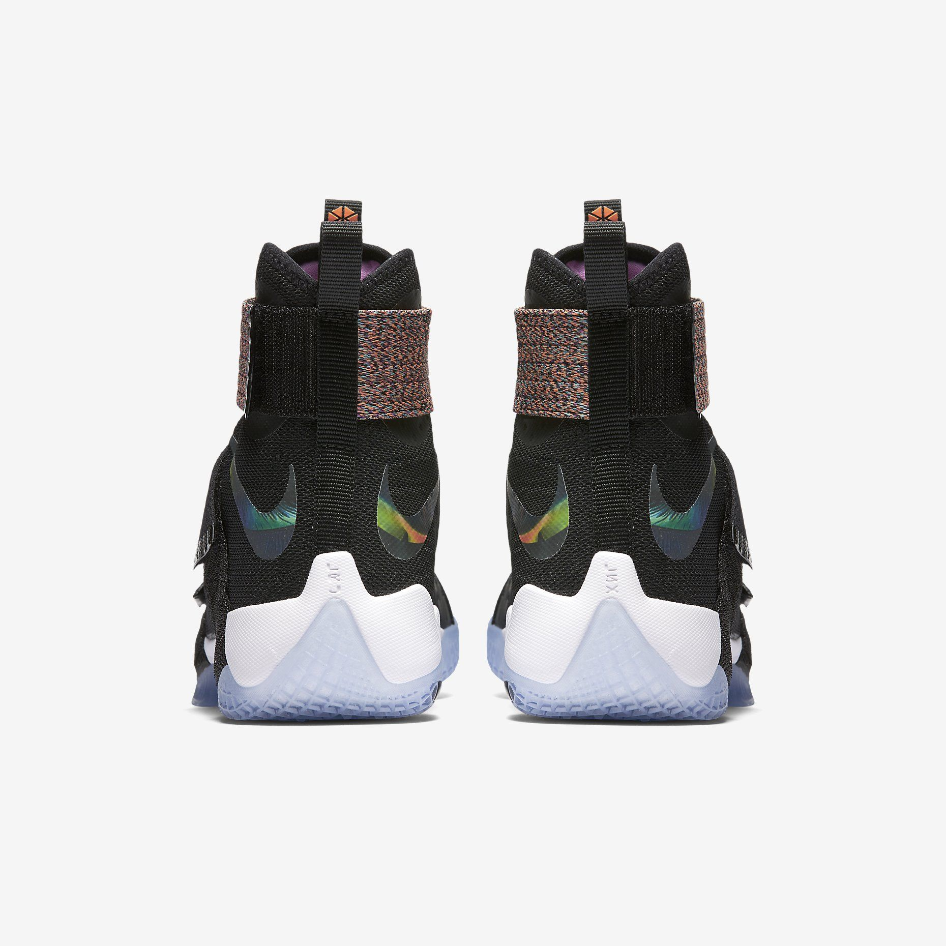ab0db3142af Nike Zoom Lebron Soldier 10 (Black Cosmic Purple Hyper Jade Total Orange)