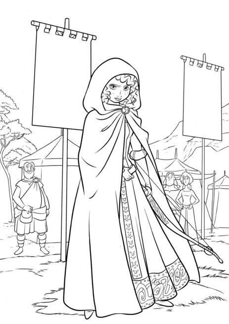 Coloring Pages For Kids: BRAVE COLORING PAGES OF MERIDA | 654x463