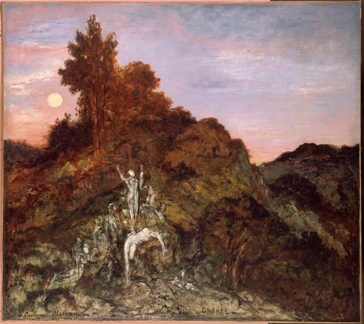 Gustave Moreu, Orphée mort (avec images) | Orphée, Les arts, Art