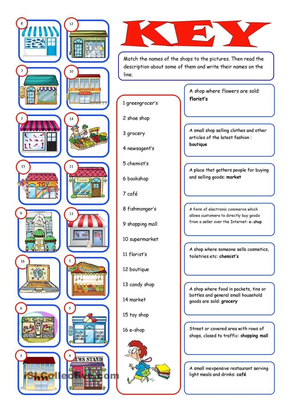 worksheet Shopping Worksheets shopping readingmatching esl 2 pinterest worksheets worksheet free printable made by teachers