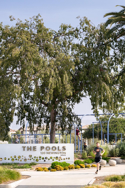 The Pools Irvine Ca Urban Landscape Design Monument Signs Park Landscape
