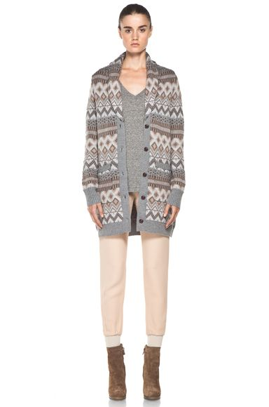 Fair Isle Sweater Coat in Granite Multi | Inspiring Ideas ...