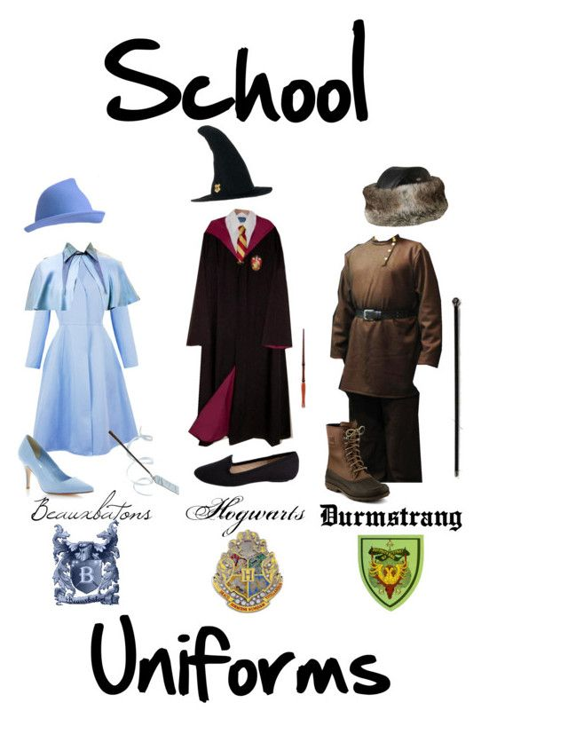 Beauxbaton Hogwarts And Durmstrang School Uniforms Hogwarts Harry Potter School Uniform Anyone have any hi res pics of the red costume and staff finial? durmstrang school uniforms