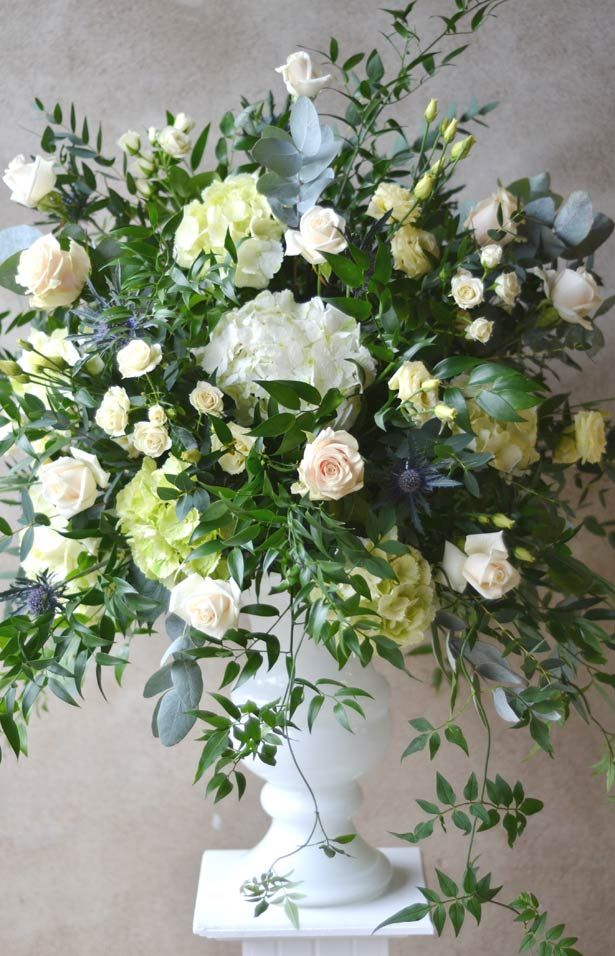 Here is an urn arrangement I made for a recent wedding at