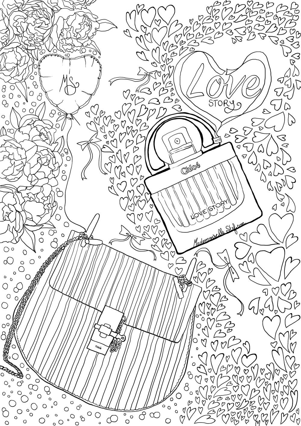 AdulteLove Story ChloéDessin Pour Illustration Coloriage De WED9beH2IY