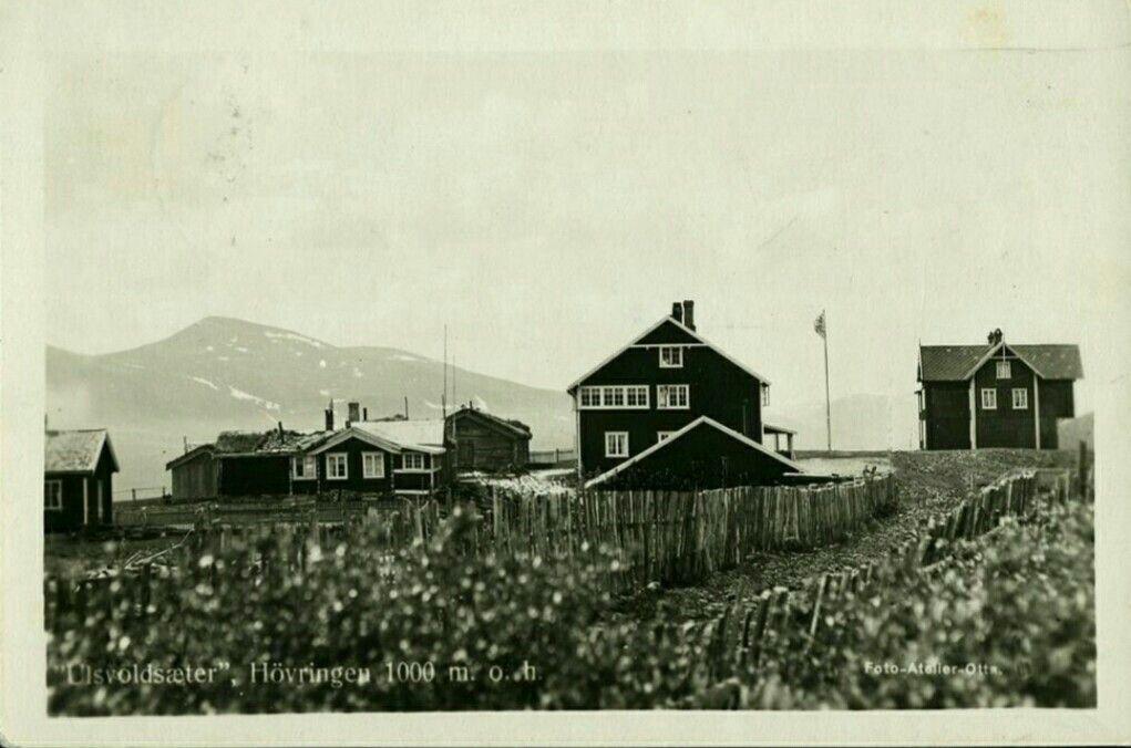 Oppland fylke Gudbrandsdalen Sel kommune Otta Ulsvoldsæter Høvringen 1934 Utg Foto-atelier, Otta