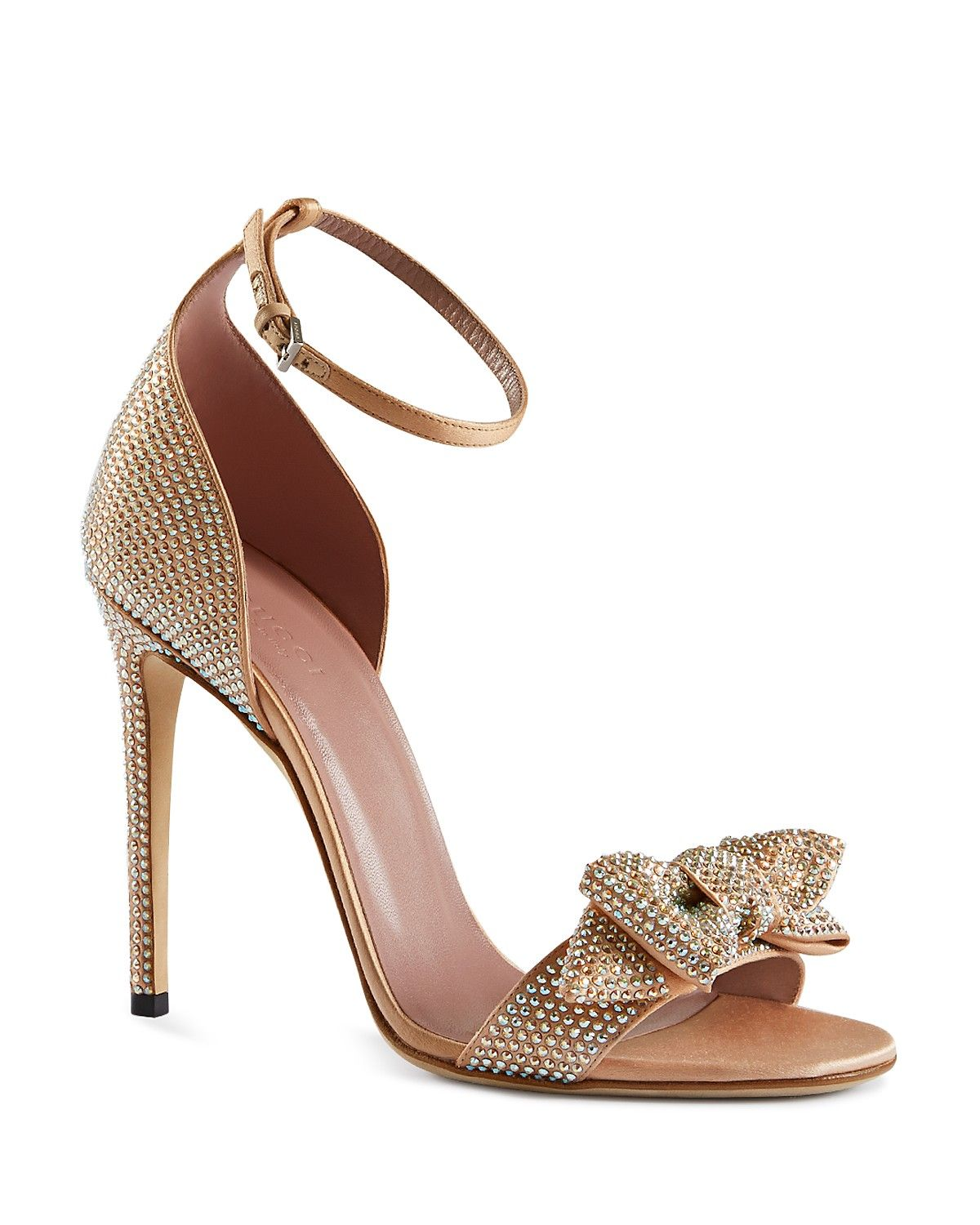 Gucci Evening Sandals - Clodine Bow | Bloomingdale's