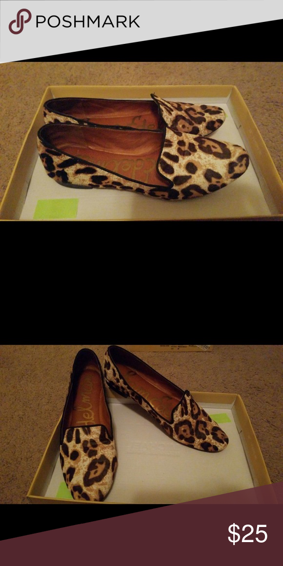 Sam Edelman slip on shoes Cheetah print, lightly used. Sam Edelman Shoes Flats & Loafers