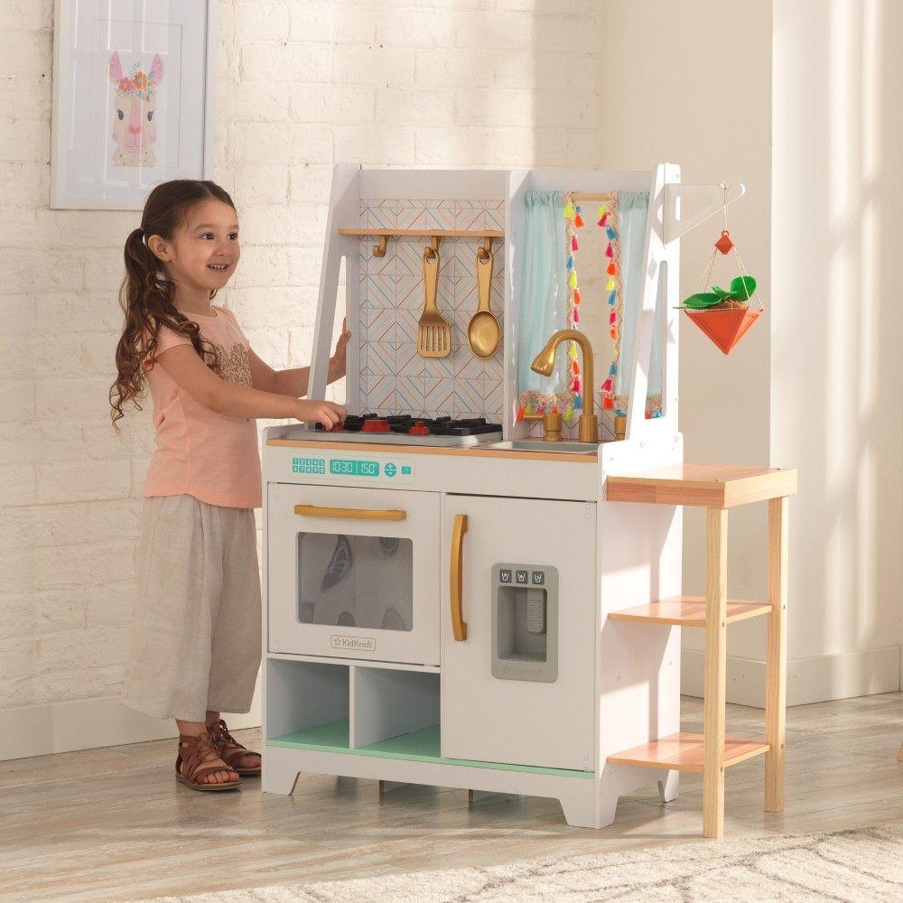 Kidkraft Boho Bungalow Play Kitchen Play Kitchen Wooden Play Kitchen Boho Bungalow