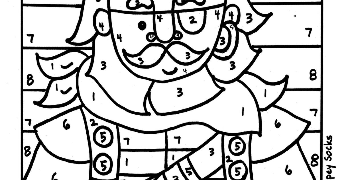 Pirate Boy Color By Number Worksheet.pdf | Crafts | Pinterest ...