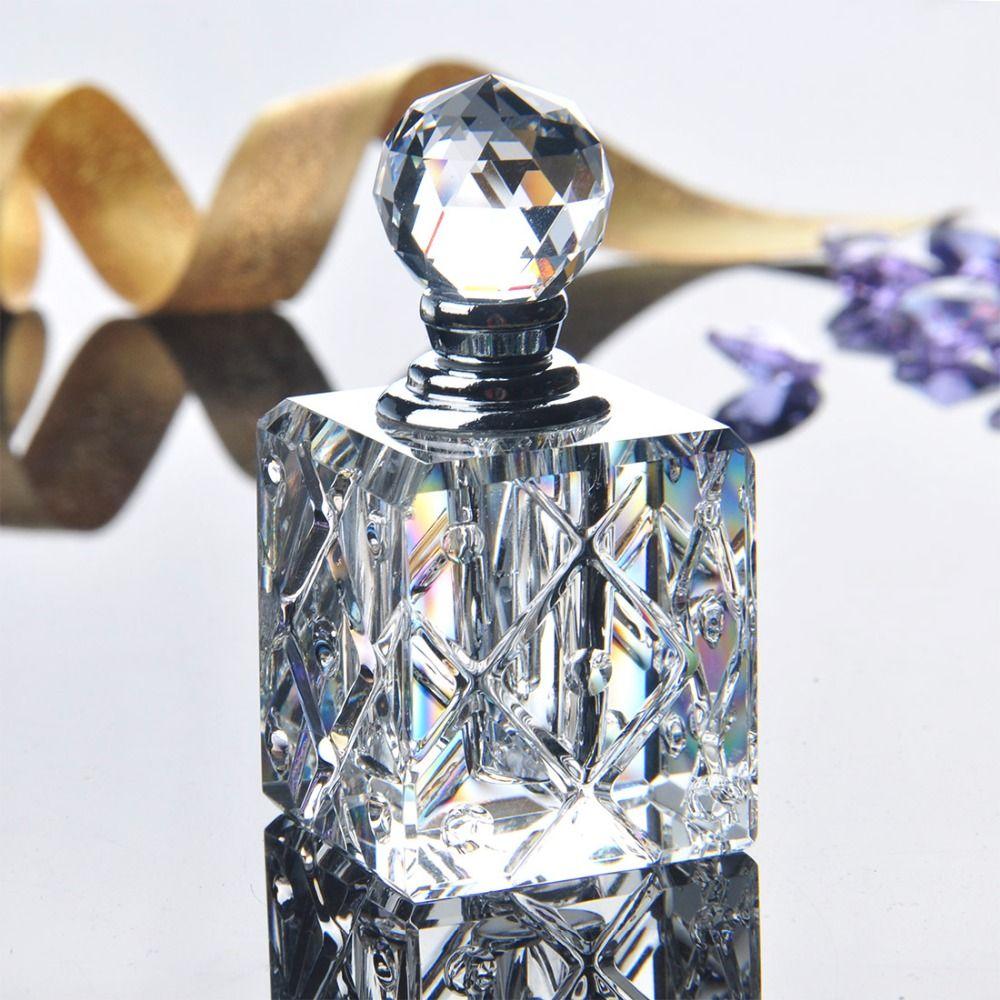 5 ML Clear Unqiue Crystal Glas Kristal Vrouwen Parfumflesje Lege Hervulbare Container Reizen Parfum Cosmetische Sample Fles