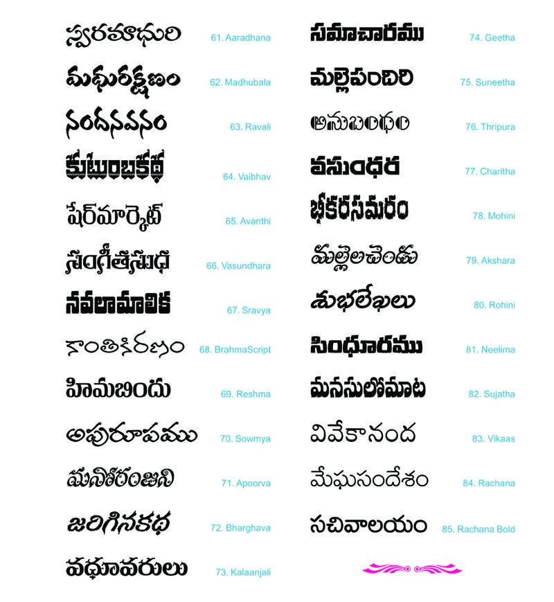 Anu Information Technologies Pvt Ltd Languages Telugu
