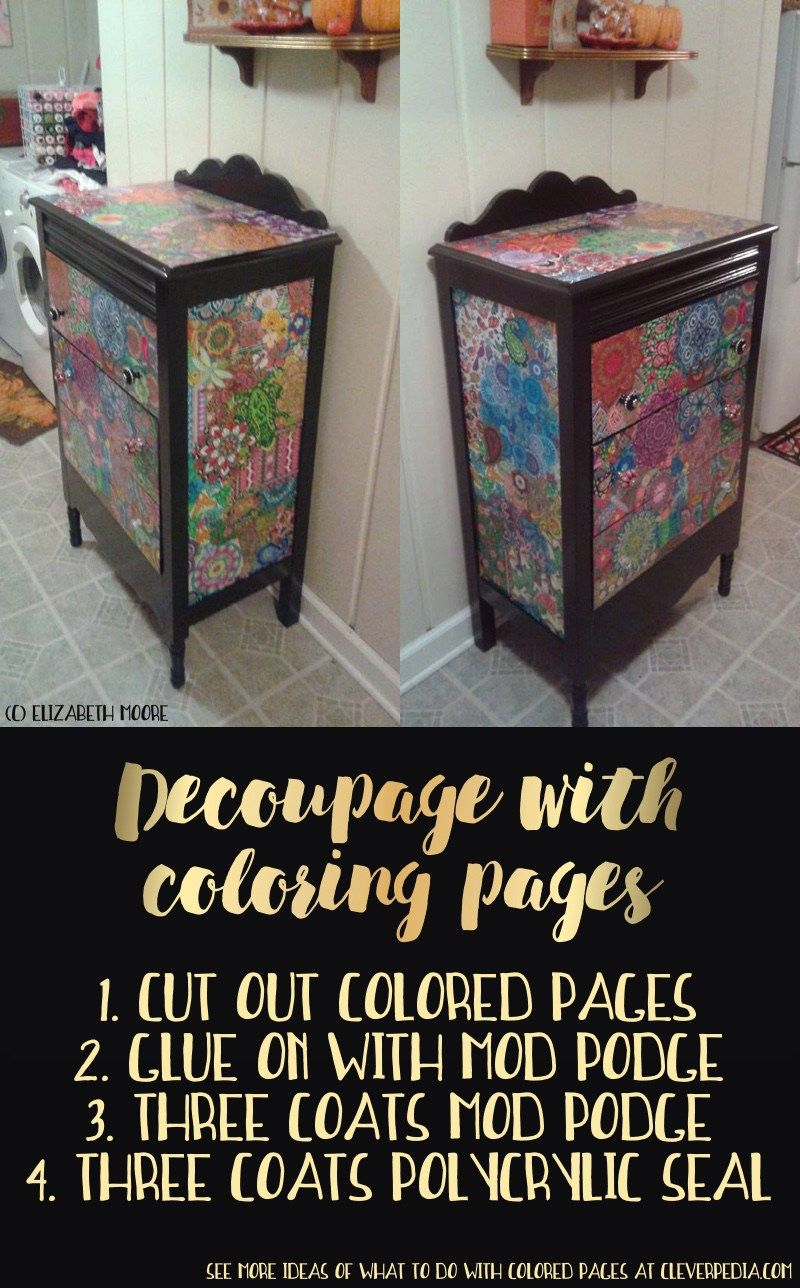 30 Crafty Ways to Use Your Coloring Pages | Decoupage ...