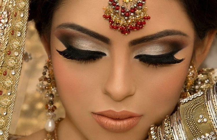 Mehndi Makeup Styles : Pin by chez on arabic make up and hair styles brown
