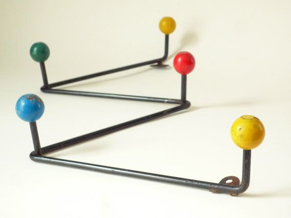 Mid Century Atomic Coat Rack 1950s Vintage Retro By