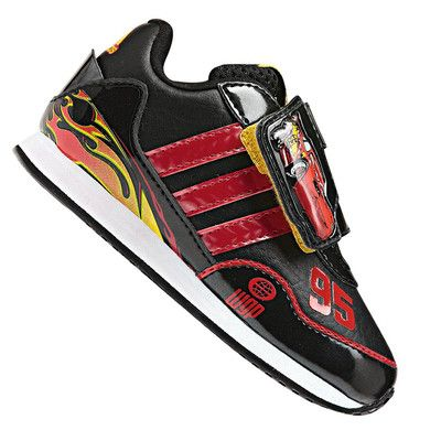 purchase cheap 0c1d7 490d1 NEW Toddler Boy ADIDAS Disney Cars 2 Lightning McQueen Sneakers Shoes Size  9  eBay
