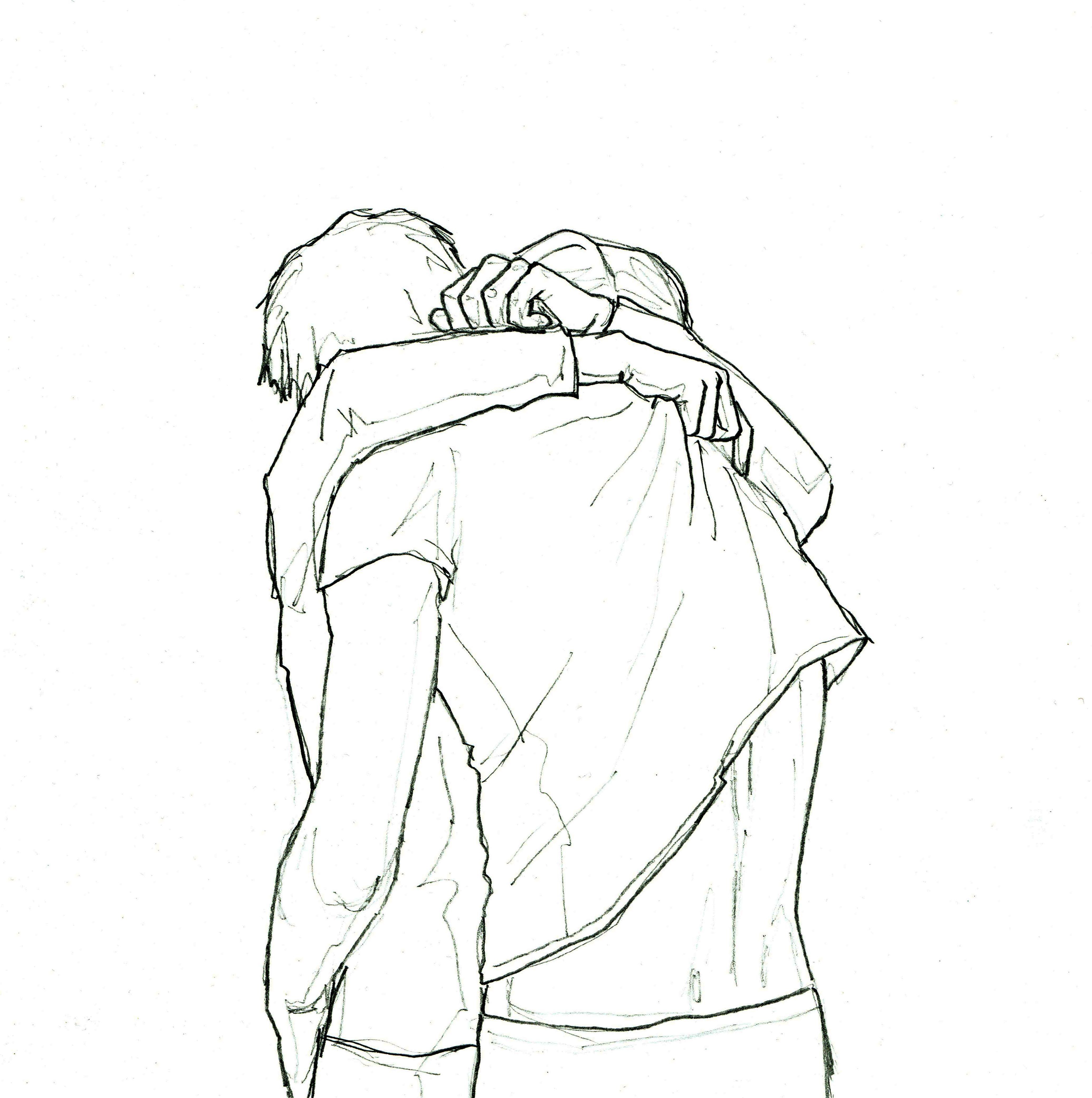 Hug Sketch By Anastasia Chernyavska Anastasiachernyavska Drawing Illustration Contemporaryart Bea Romantic Drawing Cute Couple Drawings Kiss Illustration
