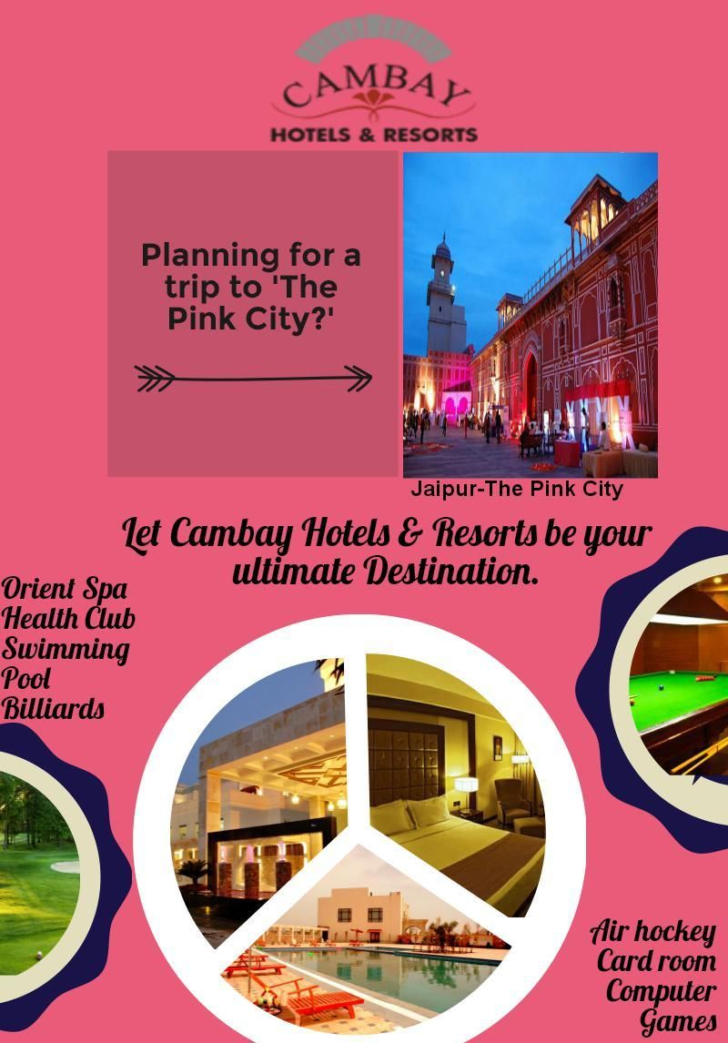 Cambay Grand Hotel in Jaipur is best 4 star hotels which