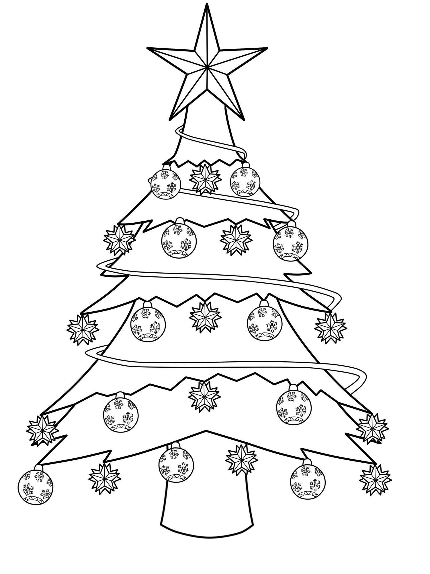 Kostenlose Malvorlage Weihnachtsbaume Geschmuckter Weihnachtsbaum Zum Ausmalen Weihnachtsbaum Schablone Weihnachtsbaum Kostenlose Malvorlagen