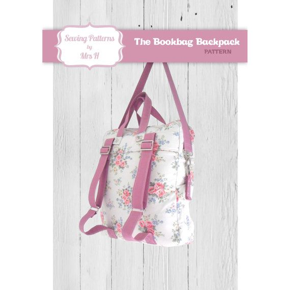 The Bookbag Backpack Bag PDF Advanced Sewing Pattern - Instant ...