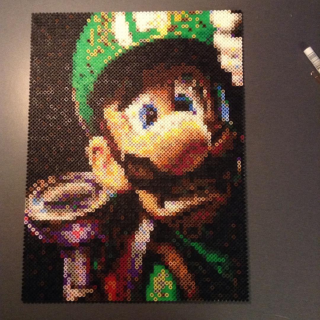 Luigi perler bead art by daniel gustafsson mario perler - Hama beads cuadros ...