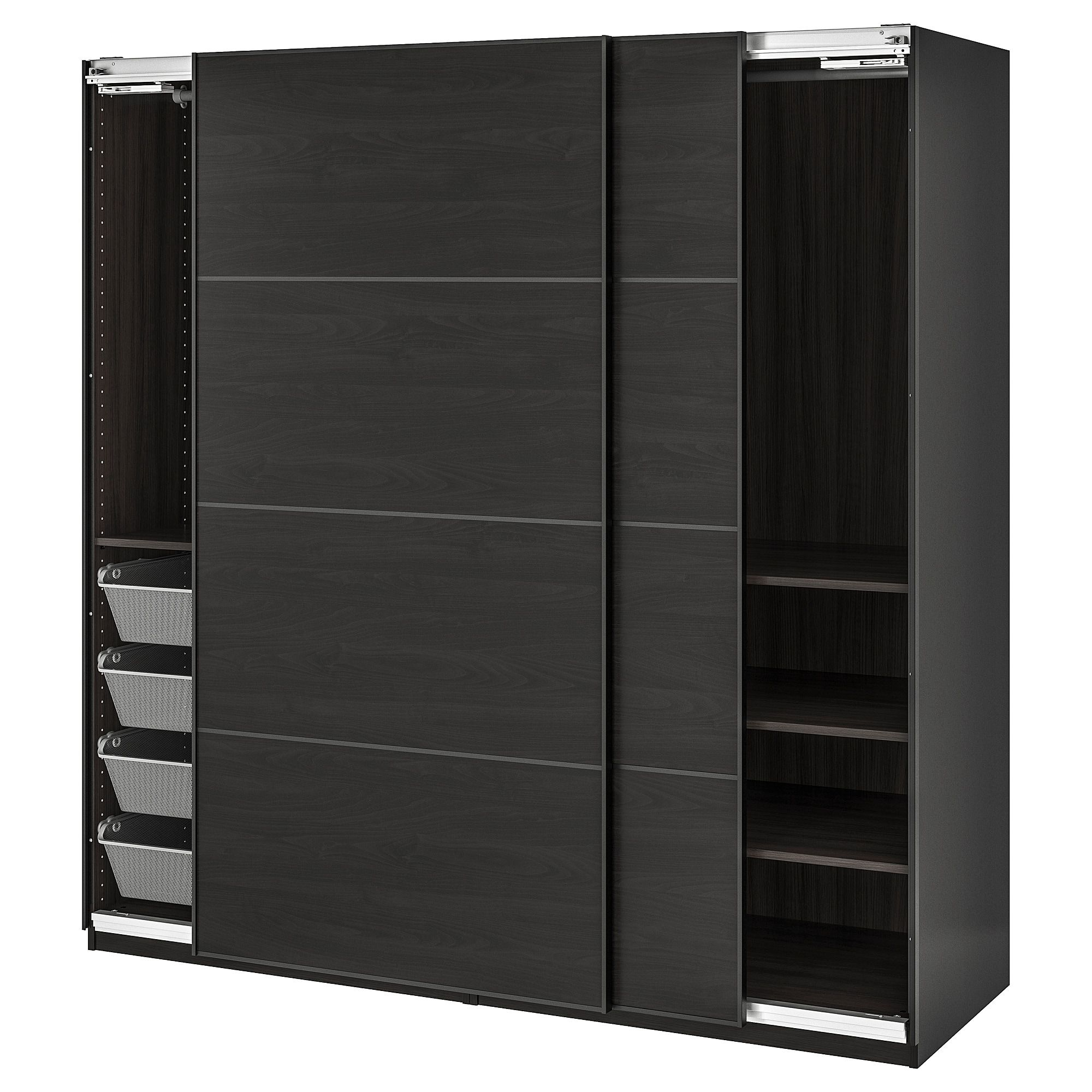 PAX Wardrobe blackbrown stained ash effect blackbrown
