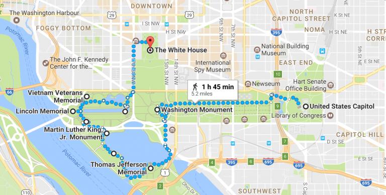 Free Walking Tour Washington DC Monuments | School | Dc monuments ...