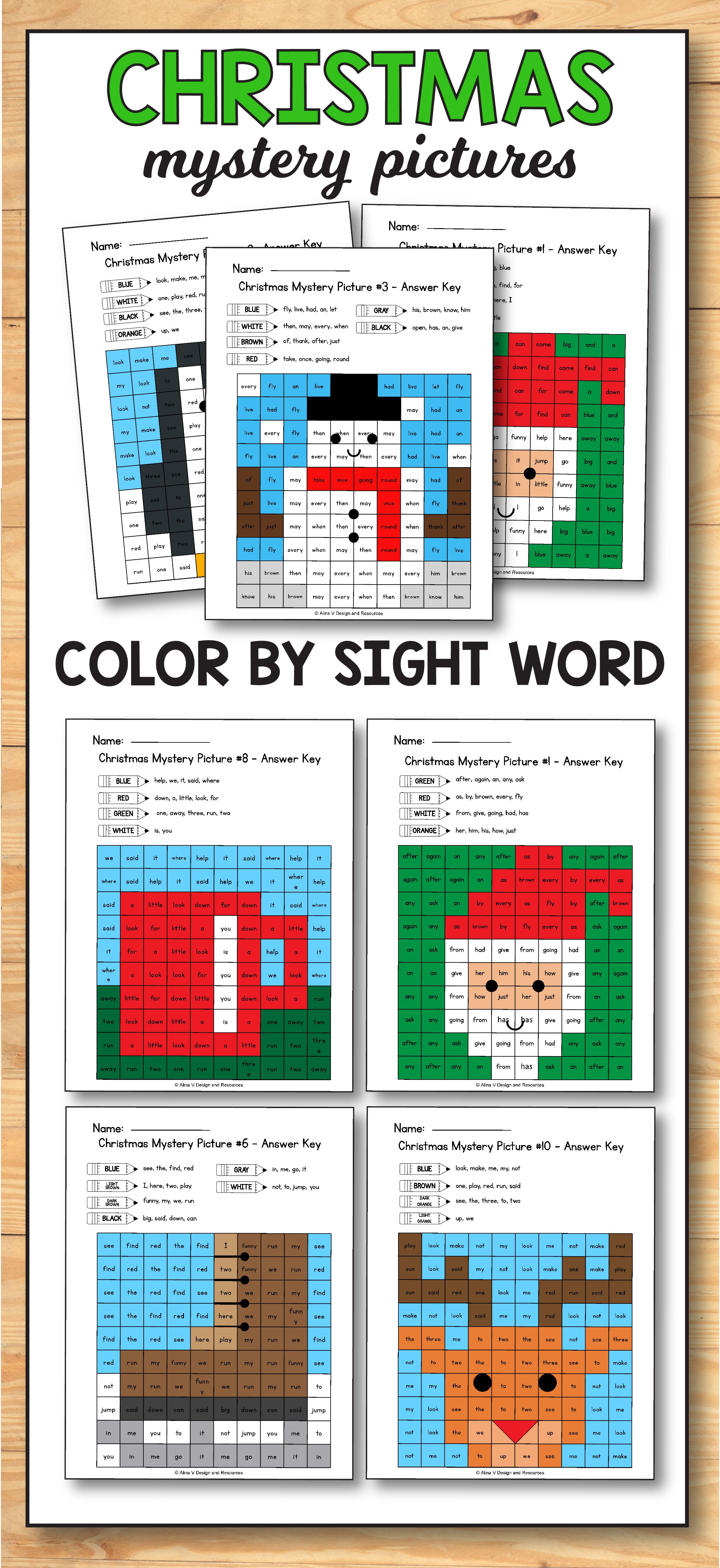 Gingerbread Man Sight Words - Christmas Activities for 1st Grade ...