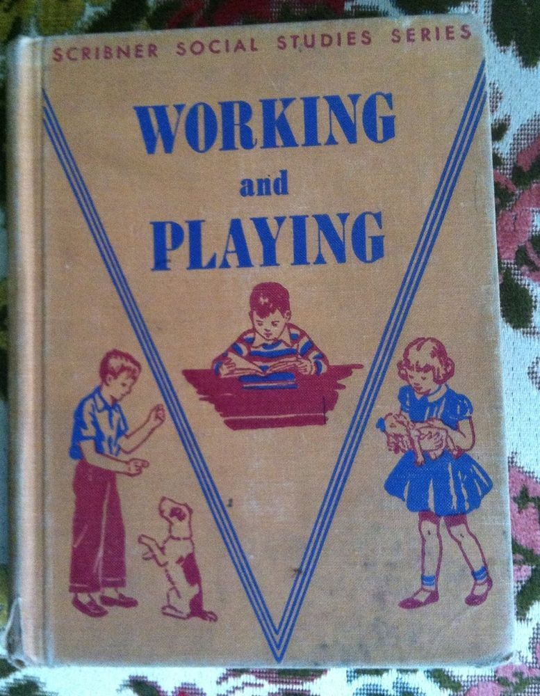 Vtg 1950 Elementary Old School Book Reader Science Social Studies