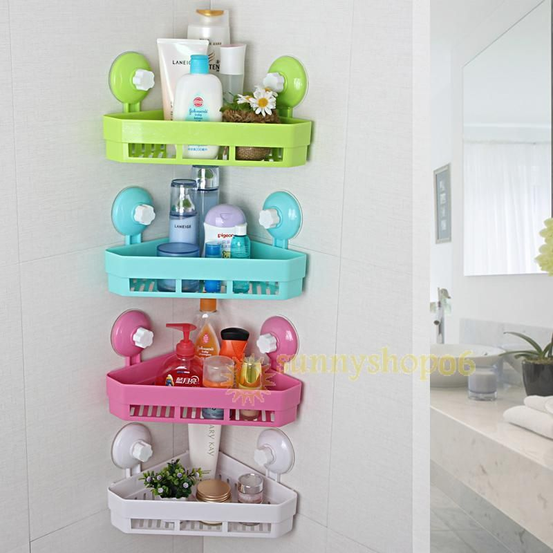 $12.17 - Bathroom Wall Corner Storage Shelf Shower Caddy Kitchen ...