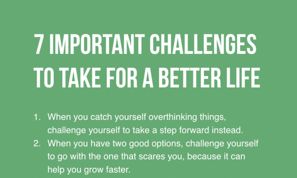 Changing Yourself Can Be Hard, But You'll Lead A Better Life If You Take The First Step