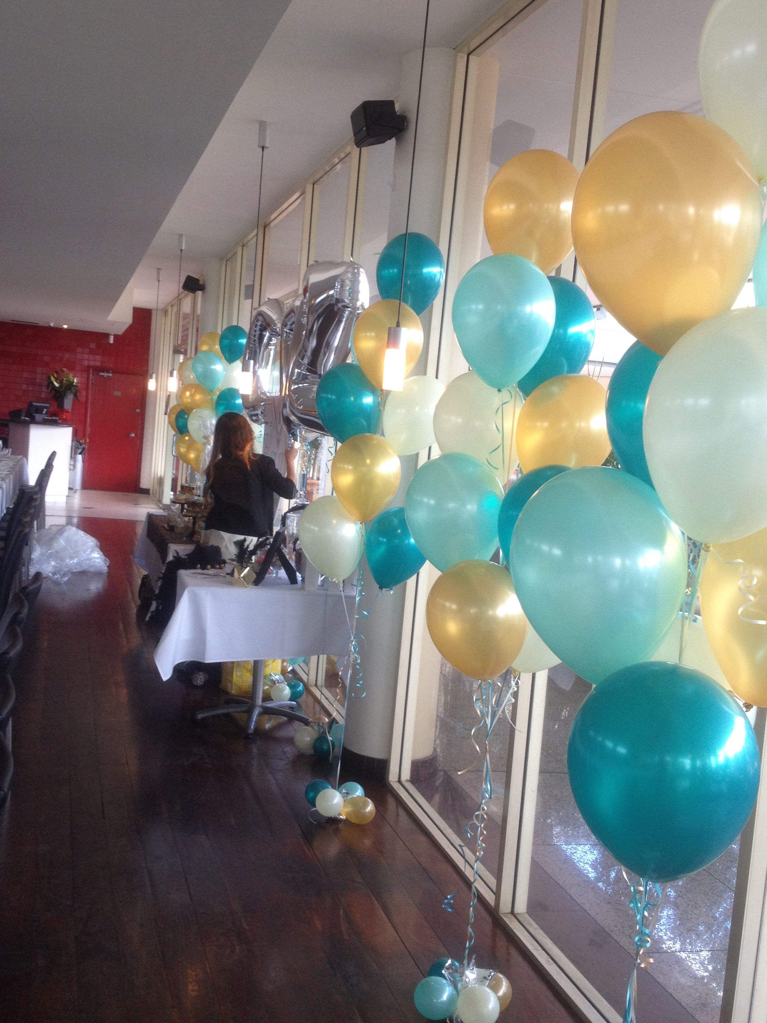In Pearl Teal Mint Green Gold And Ivory Birthday Party 13th