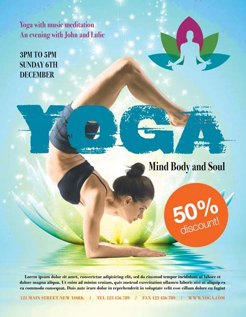 Yoga Fitness Free Psd Flyer Template Http Freepsdflyer Com Yoga Fitness Free Psd Flyer Template Enjoy Do Yoga Flyer Free Psd Flyer Templates Fitness Flyer