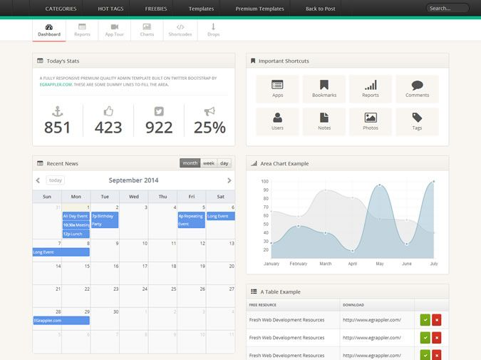 20 Free  Premium Bootstrap Admin Dashboard Templates Inspiration