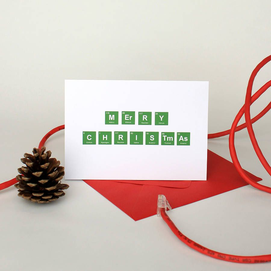 Five geeky christmas cards periodic table merry christmas card five geeky christmas cards table cardsperiodic gamestrikefo Gallery